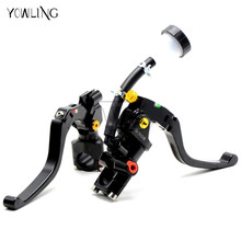 Single sell Motorcycle Cable Clutch Hydraulic brake clutch pump master cylinder handle for YAMAHA YZF-R3 R6 R25 MT09 MT-09 MT07