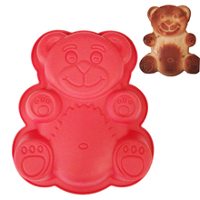 1PC  Bear Shape Cake Mold Silicone Large Size 3D Cartoon Bear Chocolate Baking Mold Bakeware Maker Mold Tray