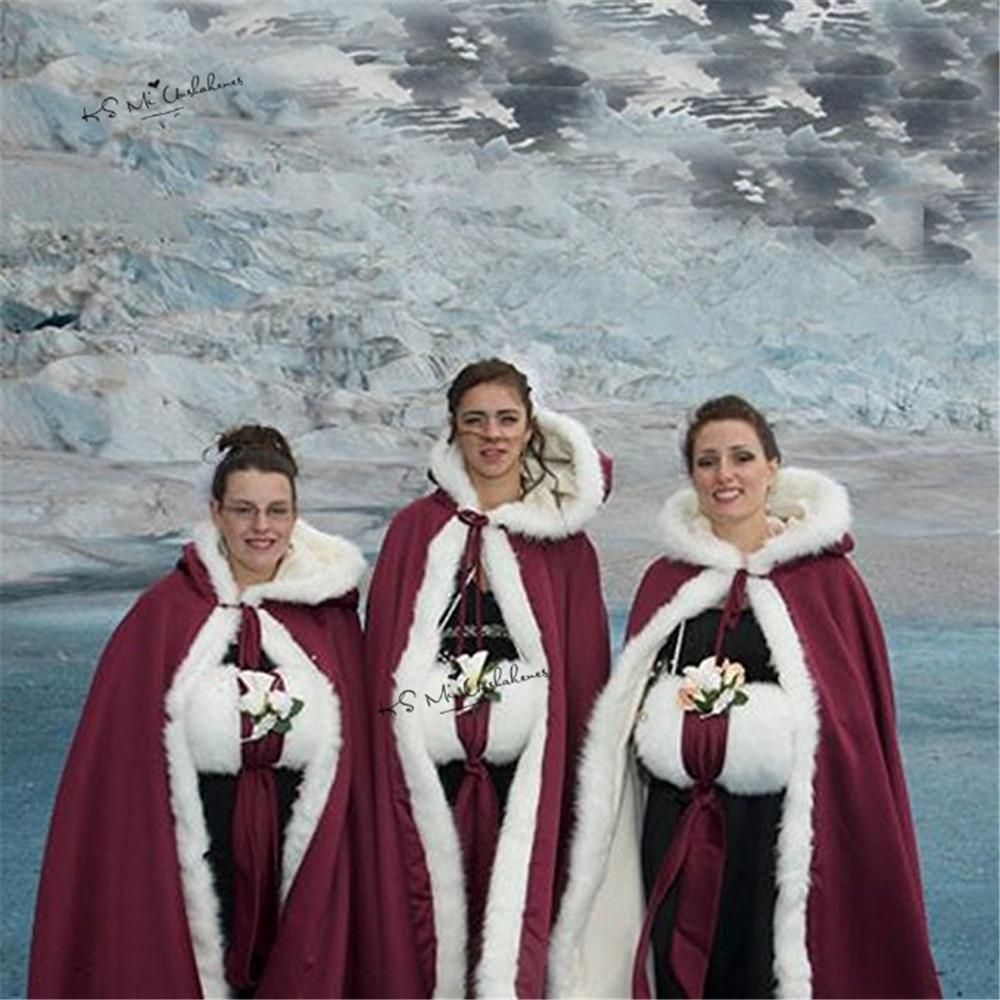 Womens retro Wedding riding hooded long Cosplay Cloak cape coat woolen Free Size