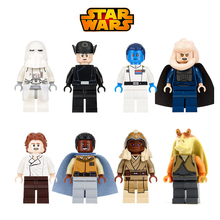 Star Wars Han solo Stass Allie Bibble Jar Jar Binks snowtrooper legoing Lando DIY Dolls Figures Building Blocks Kids Gifts Toys