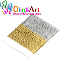 OlingArt 5M 1.0mm Gold silver thread color line Chinese Knot String Knit Cord Ropes Line Wire DIY Jewelry Making Bracelet Nylon(China)