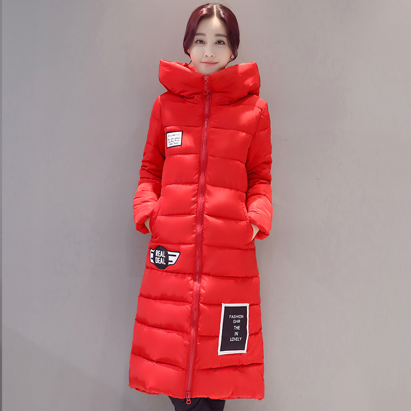 Womens Winter Jacket 2017 New long Down Cotton Female Parkas Plus Size Winter Hooded Coat Women Slim Ladies Jackets And CoatÎäåæäà è àêñåññóàðû<br><br>