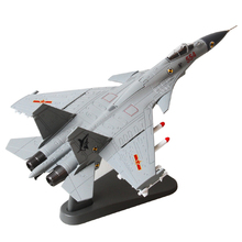 1/100 Scale Fighter Plane Model Toys J-15/Flying Shark/Flanker-D Carrier-based Aircraft Diecast Metal Plane Toy For Gift