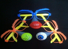 Ailin LED clown party wear glasses kids/adult masquerade party mask funny light up toy Light-Up Toys 5pcs only