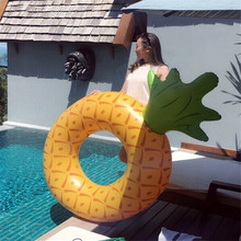 150CM Hot Sale Inflatable Pineapple Pool Swimming floating ring Pool Floats Inflatables toys Ride-On Swim Ring for Water Fun
