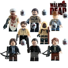 8pcs/lot Building Blocks The Walking Dead Carl Daryl Rick Negan Super Heroes Star Wars Bricks Kids DIY Toys KL9003