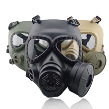 Airsoft Tactical Wargame Dummy Gas Protective Mask Cosplay Builtin Fan(China)