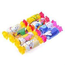 New 1Pcs Precious Mini Cartoon Animal Print Wedding Towel Wash Cloth Birthday Gift Candy Shape Towel(China)