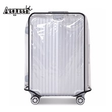 "AEQUEEN PVC Transparent Waterproof Trolley Suitcase Dust Bags Luggage Protective Cover Travel Case Accessories Apply to 20""-30"""