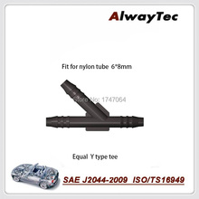 free shipping high quality  Y1  equal Y  type tee  fuel line quick  fitting,3 way equal fitting
