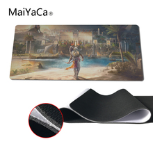 MaiYaCa Locking Edge Rubber Mousepads for Assassins Creed Origins Mice Mat DIY Design Pattern Computer Gaming Cloud Mouse Pad(China)