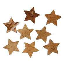Hoomall Natural Wooden Buttons Star Christmas Decor Craft DIY Scrapbooking Sewing Buttons Sewing Accessories 20PCs