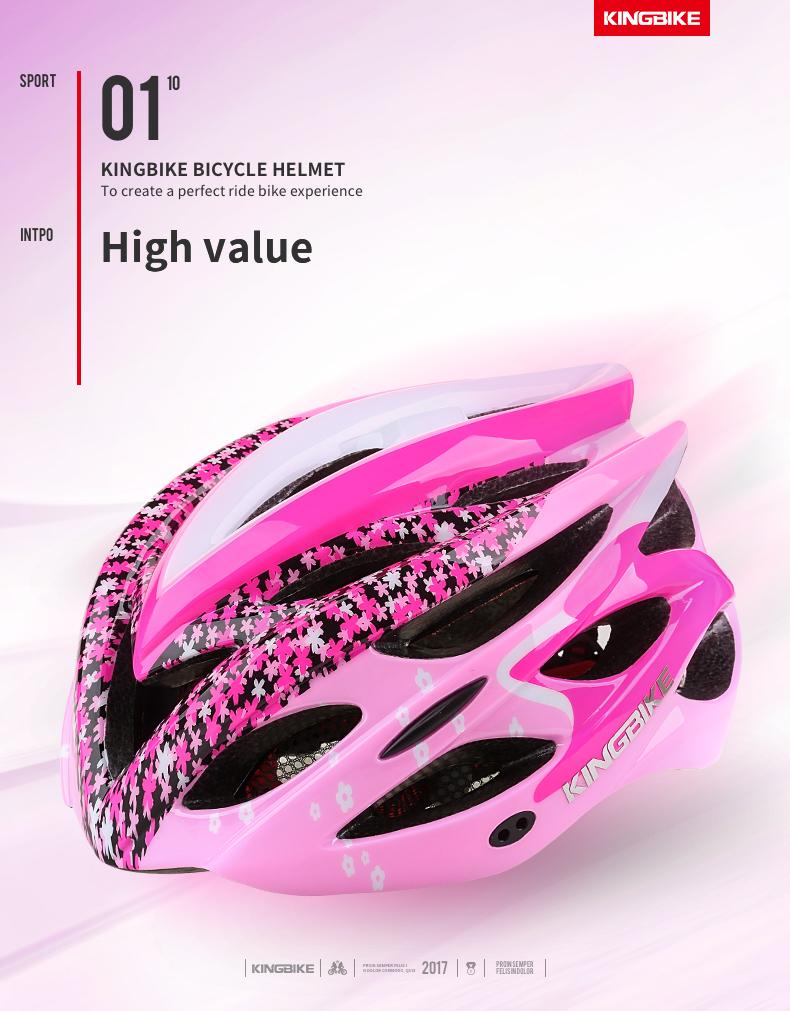 Cycling Helmet Pink Woman Road Bicycle Helmet-1