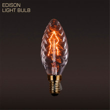 10PCS Art Antique Style Edison Light Bulbs American Vintage Edison Lamp C35 Warm White E14 25W 110V/220V Halogen Bulbs