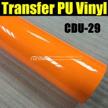 CDU-29 High quality heat transfer pu vinyl film with size : 50X100CM per LOT by free shipping