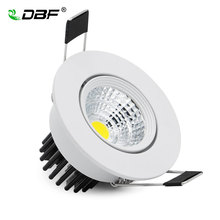 [DBF]Angle Adjustable Non Dimmable 5W LED Recessed COB Downlight White Housing LED Ceiling Spot Lamp AC110V/220V Indoor Lighting(China)