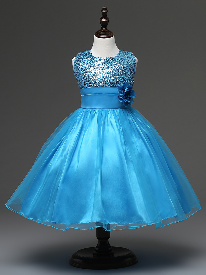 Compra Aqua Azul Vestidos De Ni 241 A Online Al Por Mayor De
