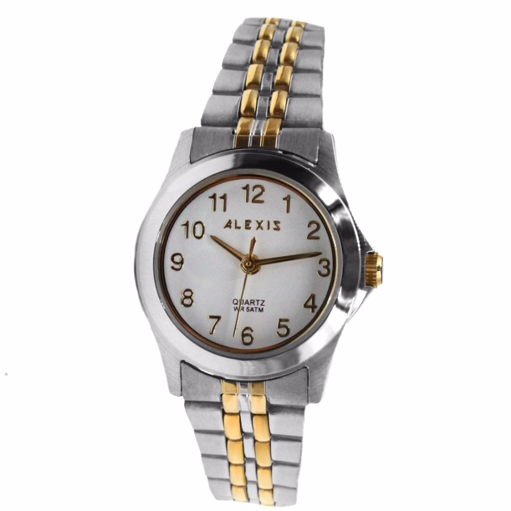 White Dial Ladies ALEXIS 2035 QUARTZ All Stainless Stainless Steel Watch <br>