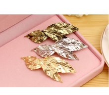 2017 Hot fashion vintage gold metal leaf Hairpins hair clips for women para bijoux jewelry wholesale