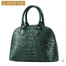 ledai Shopping malls with money An oblique cross-leather bag for 2017 new crocodile skin single shoulder women bag(China)