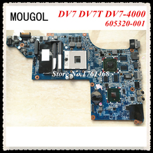 MOUGOL For HP DV7 DV7T DV7-4000 series 605320-001 Laptop motherboard mainboard Discrete graphics 100% working Free Shipping