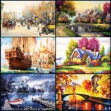 Popular 1000pieces of thick paper puzzle landscape jigsaw adult education toy Christmas gifts adult puzzles 70*50cm original box