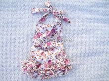 Vintage Floral Bloomer Bubble Knickers Play Suit Baby Girl Romper Photo Prop Vintage Look
