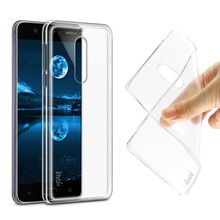 IMAK Ultra Thin Soft TPU Case For Nokia 5 Transparent Back Cover Skin for Nokia 5 Dual Sim Silicone Case + Screen Film & Package