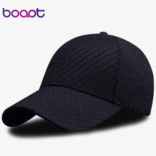[boapt] plaid weave hats for men's polyester blended stripe casual cap travels spring autumn women's baseball caps male snapback(China)