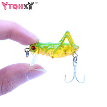 1Pcs 3.2g 3.5cm Flying Jig Wobbler Lure Hard Lure Bait fishing lure Artificial Bait Grasshopper Insects Fishing Tackle YE-297(China)