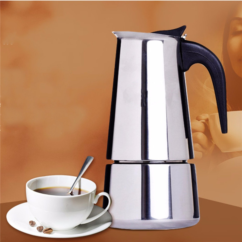 100/200/300ml Italian Stainless Steel Espresso Maker Kitchen Drip Kettle Coffee Tea Pot Moka Coffe Pot Coffee Extractor Kitchen(China)