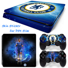 Chelsea Football Club Skin Sticker for Sony PS4 Slim Console + 2 PCS Controller Cover Skin Stickers