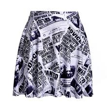 News Paper Design Women Sexy Pleated Skirts Tennis Bowling Bust Shorts Skirts Plus Size Female Fitness Apparel A Style Skirts