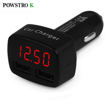 Car Charger 5V 3.1A Quick Charge Dual USB Port LED Display Voltage Current Temperature Monitor Adapter Charge