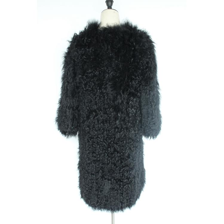 women natural lamb sheep fur coat (18)