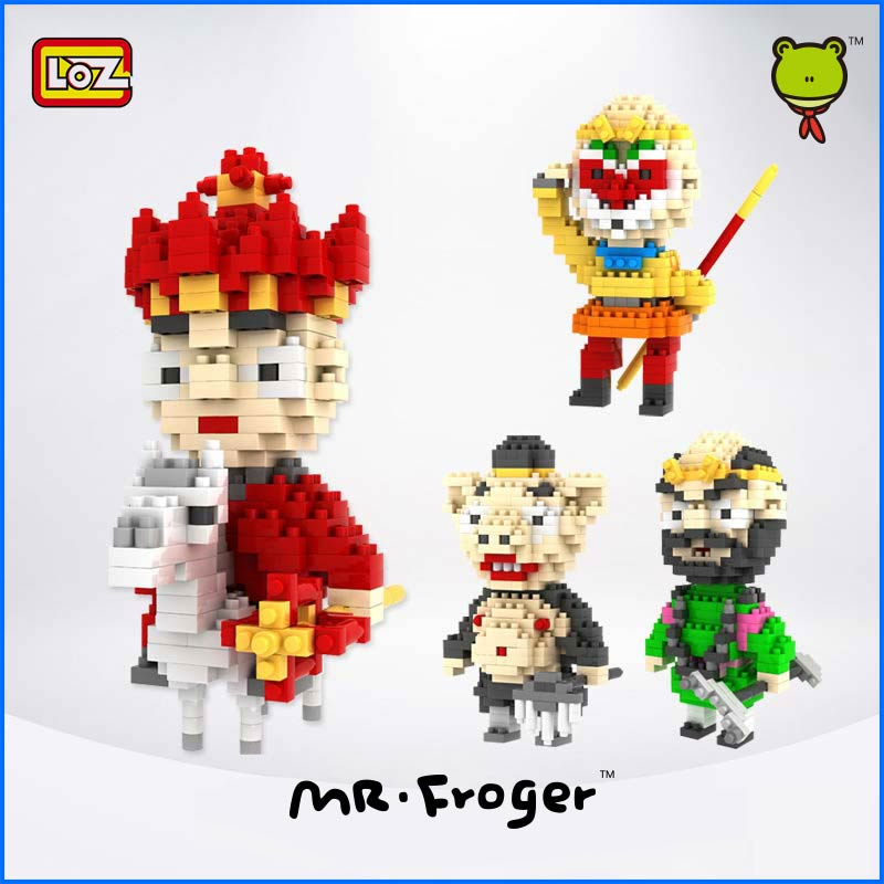 Mr.Froger LOZ Journey to the West monkey king Tang Monk mini blocks Small particles building block toy brick gifts series<br><br>Aliexpress