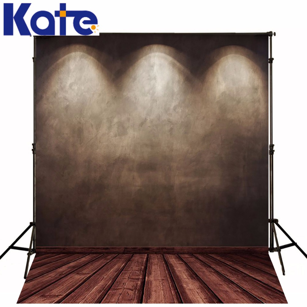Photography Backdrops Dark Stage Spotlight Wood Brick Wall Backgrounds For Photo Studio Ntzc-016<br>