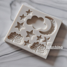 Cloud Star Moon silicone mold fondant mold cake decorating tools chocolate gumpaste mold(China)
