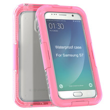 Waterproof Shockproof DustProof Case Cover For Samsung Galaxy S7 Anti-fall mobile phone shell 9.4(China)