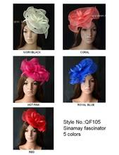 New arrival!Sinamay Fascinator hat hair accessory for Ascot races wedding kentucky derby church.red,ivory,wheat.FREE SHIPPING