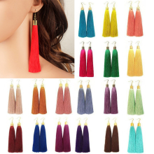 LNRRABC NEW 19 colors Ladies Earring Bohemian Big Vintage Tassel Earring Long Drop Earrings Jewelry for Women