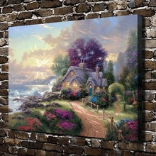 H1233 Thomas Kinkade A New Day Dawning Scenery ,HD Canvas Print Home decoration Living Room Bedroom Wall pictures Art painting