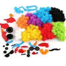 400pcs Kid Educational Assembling 3D Puzzle Toys For Children DIY Puff Ball Squeezed Variety Shape Creative Handmade Toy Puzzles(China)