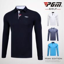 PGM Autumn POLO Shirt 2018 New Apparel Men's Long Shirt Competition New Style Warmth Golf Polo Clothing Men Table Tennis Shirt(China)