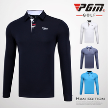 PGM Autumn POLO Shirt New Golf Apparel Men's Long Shirt Competition New Style Warmth Golf Polo Clothing Men Table Tennis Shirt(China)