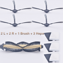 1 * Main brush +3* HEPA filter + 3 * Sponge + 4 * Side brush robot cleaner parts Polaris Chi A4 iLife T4 X432 X430 X431