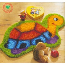 Free Shipping DIY Needlework Kit Unfinished Crocheting Yarn Rug Embroidery Carpet Handmade Floor Mat Tortoise Picture(China)