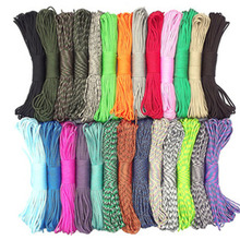 4mm Militery Paracord 550 100ft Rope Paracord Lanyard Accessories Parachute Deg For Outdoor Camping Equipment & Survival(China)