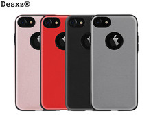 Desxz Phone Case for iPhone 7 7Plus Business Imported Leather Case for iphone7 7 plus for Protective Mobile Phone Case Cover(China)