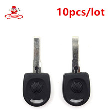 10pieces/lot  For Volkswagen (VW) B5 Passat Blank Shell Transponder Key (HU66)  with logo Free Shipping